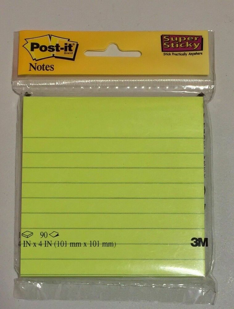 Post-It Super Sticky Lined Ultra Colour Pads Green